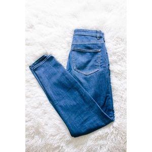 Uniqlo high waisted skinny jeans